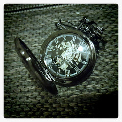 Mechanical Pocket Watch Black colour Dark inside