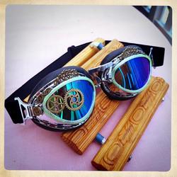 Steampunk / Post Apocalyptis tyyliset gogglesit lentäjän lasit ajajan lasit koristein