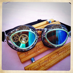 Steampunk / Post Apocalyptic goggles aviator glasses driver goggles with decorations
