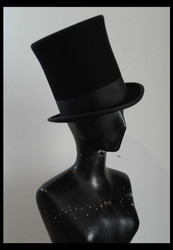 Top Hat, Wool Felt, Traditional style 20cm high, Hand Made in Italy