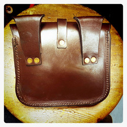 Leather, Medieval style Belt Bag