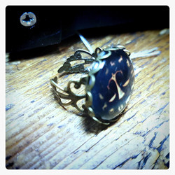 Ring with Libra zodiac sign