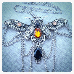 Necklace, Steampunk style Butterfly