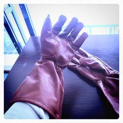 Salamurhaaja tyyliset hanskat, nahkaa, ruskeat