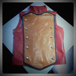 Leather Steampunk/Dieselpunk style vest