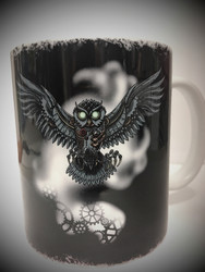 Mechanical Owl Mug by Bard & Jester