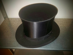 Old Antique foldable top hat