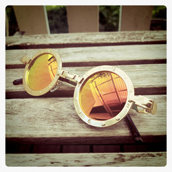 SteamPunk style Metal Frame sunglasses special model