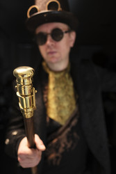 Walking Cane Telescope stick - Gentleman style - Steampunk walking cane - Telescope - Gentleman