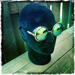 SteamPunk style sunglasses - with Mirror Lenses