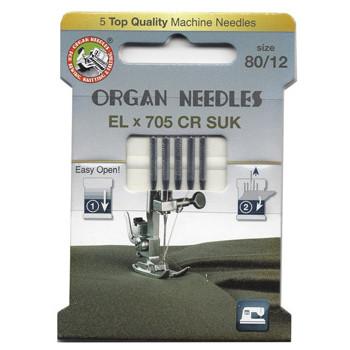 Ompelukoneneula: Organ Overlock EL x 705 CR SUK 80/12