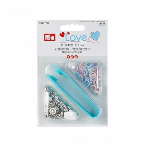 Prym: Love Jersey neppari 8mm + työvälineet: Pastellit