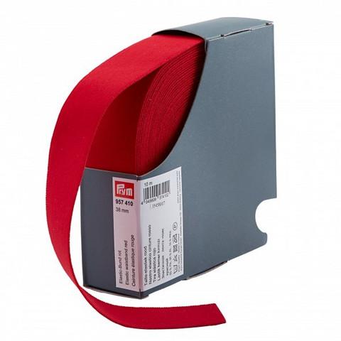 Prym: Bokserikuminauha 38mm, punainen