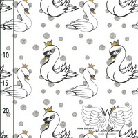 WCollection, luomutrikoo: Swan, silver/gold