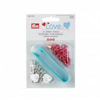Prym: Love Jersey neppari 8mm + työvälineet: Punaiset