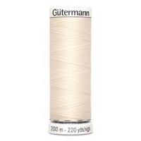 Gütermann ompelulanka 200m: Luonnonvalkoinen 802