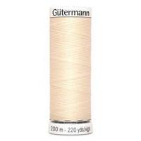 Gütermann ompelulanka 200m: Vaalea nude 414
