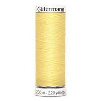 Gütermann ompelulanka 200m: Vaaleankeltainen 578
