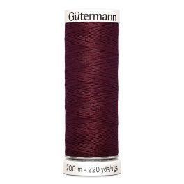 Gütermann ompelulanka 200m: Viininpunainen 369