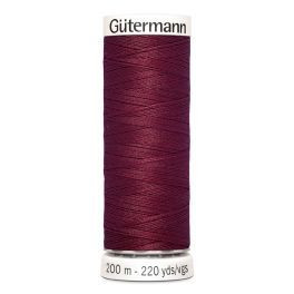 Gütermann ompelulanka 200m: Viininpunainen 375