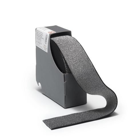 Prym: Glitterikuminauha 50mm, musta/hopea