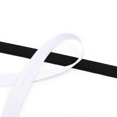 Kuminauha 10mm, musta/valkoinen