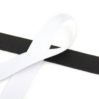 Kuminauha 20mm, musta/valkoinen