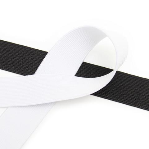 Kuminauha 25mm, musta/valkoinen
