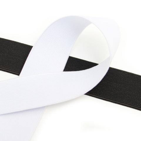 Kuminauha 30mm, musta/valkoinen