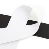 Kuminauha 40mm, musta/valkoinen