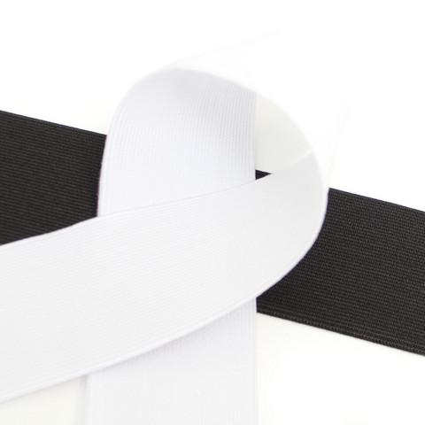 Kuminauha 50mm, musta/valkoinen