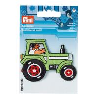 Prym: Silitettävä vihreä traktori -kangasmerkki