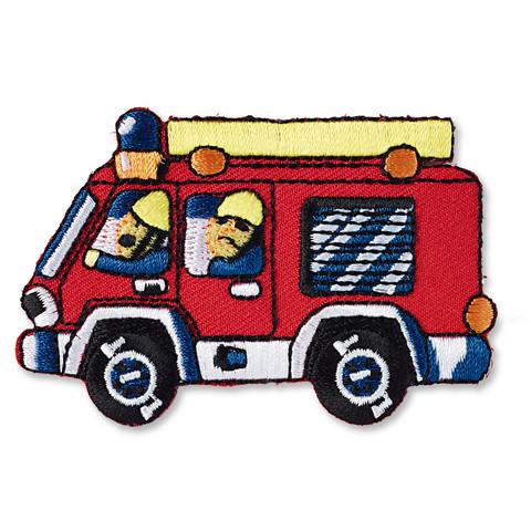 Prym: Silitettävä paloauto -kangasmerkki