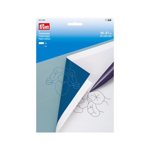 Prym: Siirtopaperi 58 x 57cm, valkoinen ja sininen