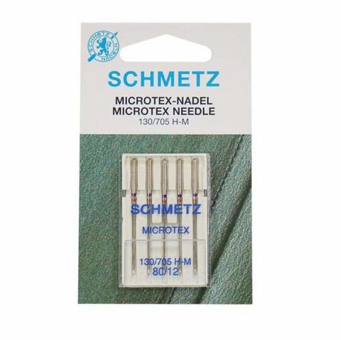 Ompelukoneneula: Schmetz Microtex 130/705 H-M 80/12
