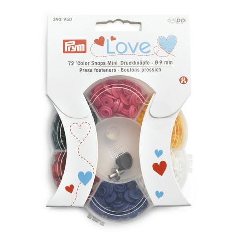 Prym Love: Snaps Mini neppari 9mm, värilajitelma 6 x 12kpl