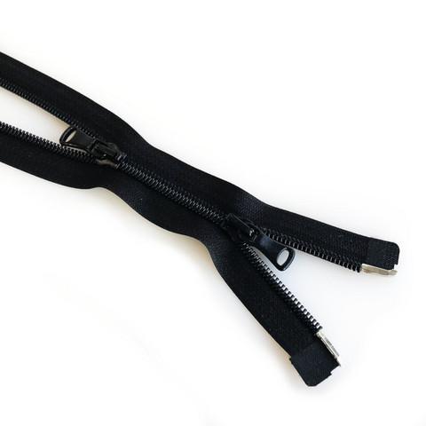 2-lukkoinen avovetoketju, spiraali 6mm 50-90cm, musta