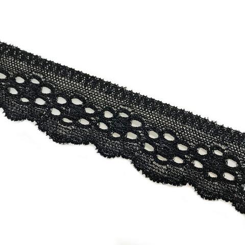 Reunapitsikuminauha 25mm, musta ja valkoinen