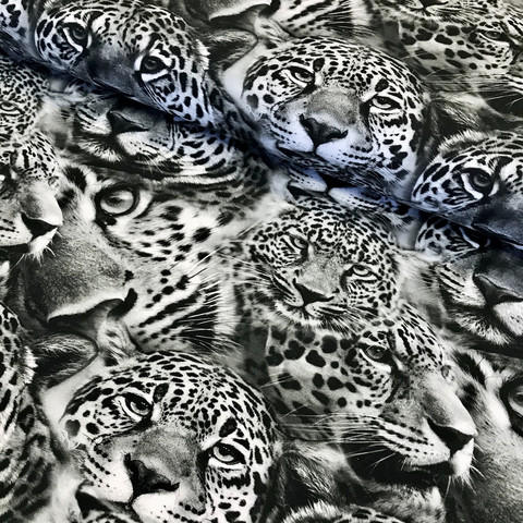 Digitrikoo: Leopard, black and white