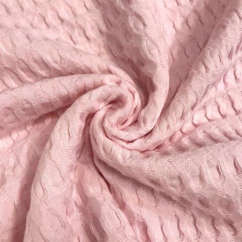 Muhkea vohvelikangas, vaaleanpunainen