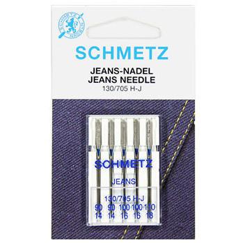 Ompelukoneneula: Schmetz Jeans 90-110