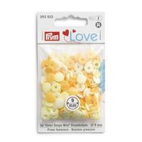 Prym Love: Snaps neppari 9mm, keltainen lajitelma 36kpl