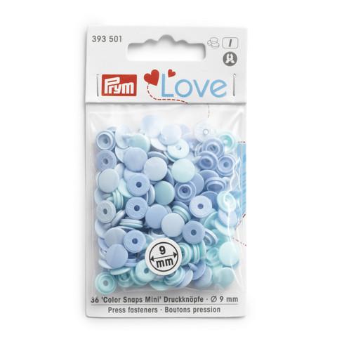 Prym Love: Snaps neppari 9mm, sininen lajitelma 36kpl