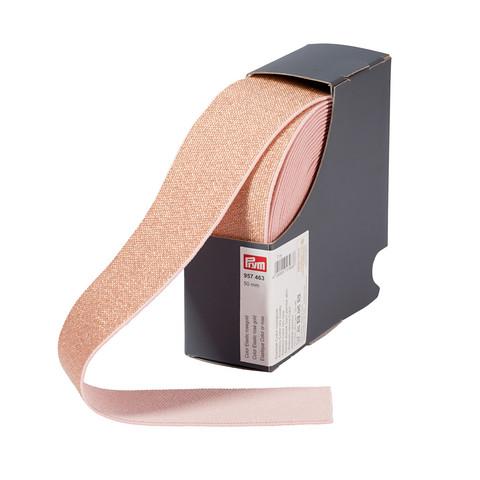 Prym: Glitterikuminauha 50mm, ruusukulta
