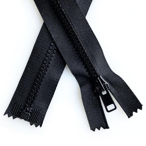 Hammasvetoketju avo 6mm, 30-80cm, musta