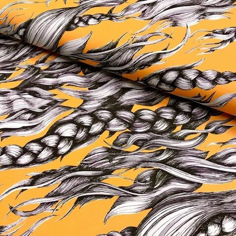 Hellin: Pony Braid luomupuuvillatrikoo, Yellow