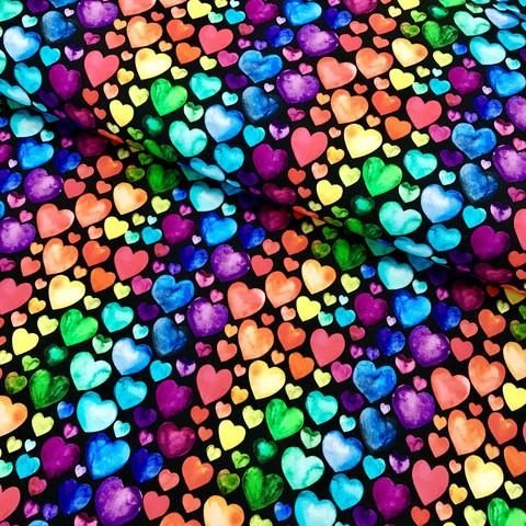 Digijoustocollege: Sydämet, musta - monivärinen