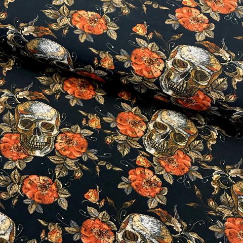 Digitrikoo: Autumn skull, musta - oranssi
