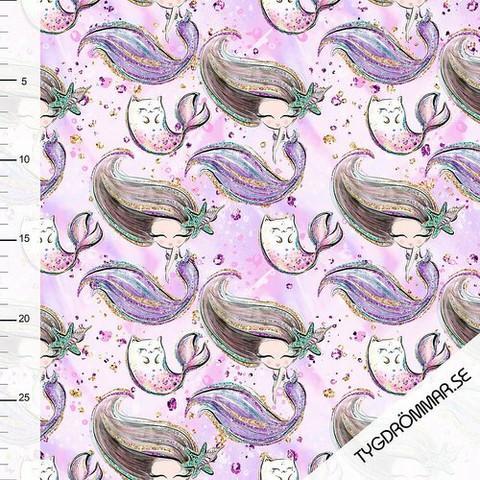 Tygdrömmar, lycra: Mermaid, violetti