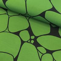 Kuosiverstas, luomutrikoo: Pirunpelto, vihreä-musta